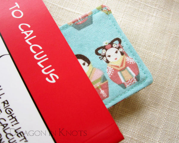 Korean Matryoshka Bookmark -  - Fabric Bookmark - Dragon in  Knots - 5