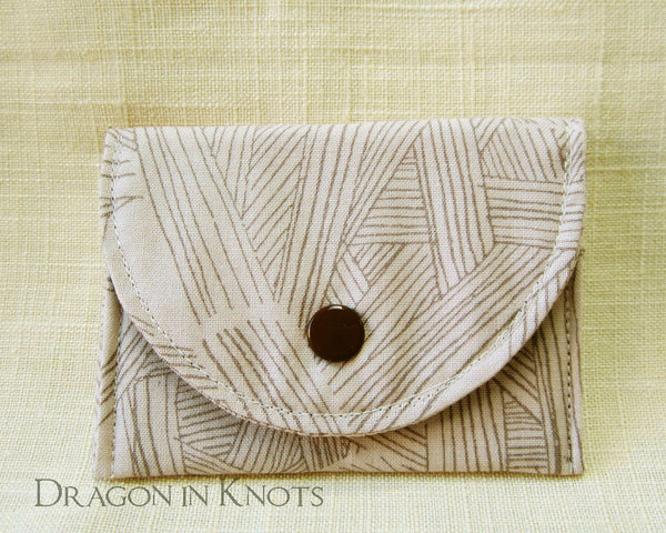Pages and Pages - Card Wallet - Dragon in Knots handmade accessory