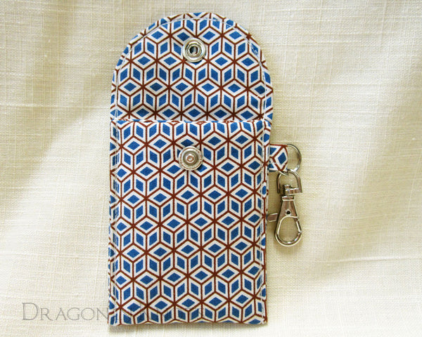 Cubic Mini Essentials Pouch - for lip gloss and cards - Dragon in Knots handmade accessory