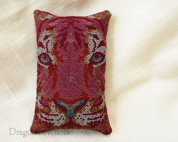 Mosaic Tiger To-Go Tissue Holder - Dragon in Knots handmade accessory