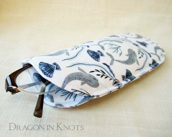 Narwhal Soft Eyeglass Case - Dragon in Knots handmade accessory