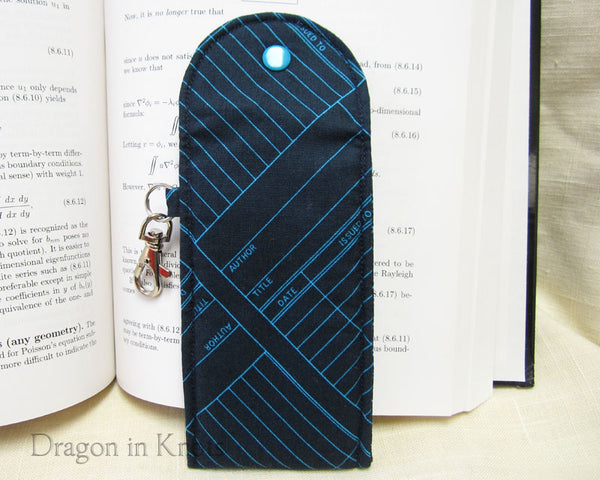 Library Checkout - Tall Lip Gloss Holder - Dragon in Knots handmade accessory