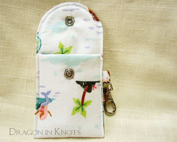 On the High Seas - Mini Essentials Pouch - Dragon in Knots handmade accessory