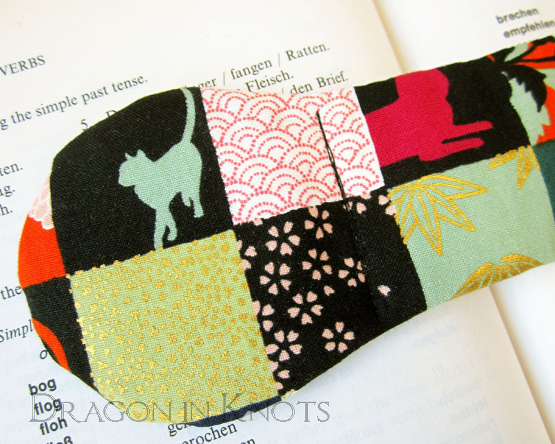 Patchwork Cat Book Weight - Dragon in Knots - Book Weights