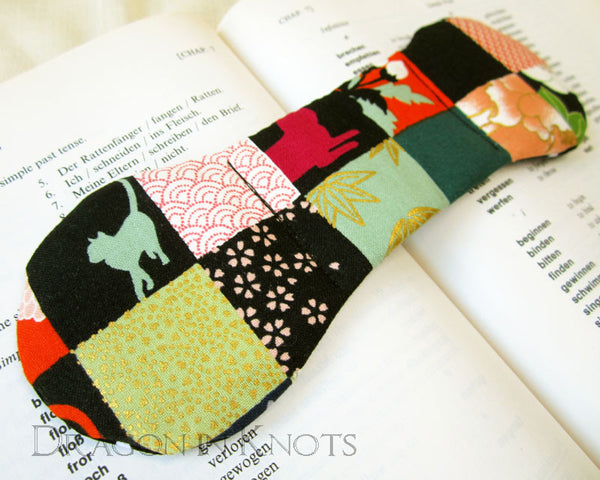 Patchwork Cat Book Weight -  - Book Weights - Dragon in  Knots - 2