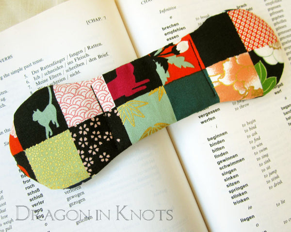Patchwork Cat Book Weight -  - Book Weights - Dragon in  Knots - 3