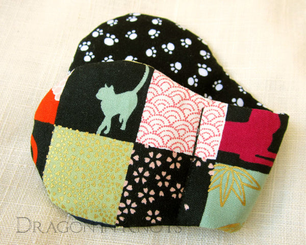 Patchwork Cat Book Weight -  - Book Weights - Dragon in  Knots - 5