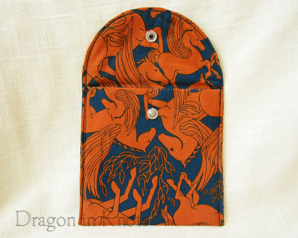 Pegasus Passport or Accessory Pouch - Dragon in Knots - Accessory Pouches