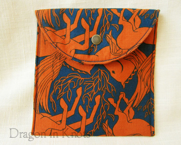 Pegasus Passport or Accessory Pouch - Dragon in Knots handmade accessory