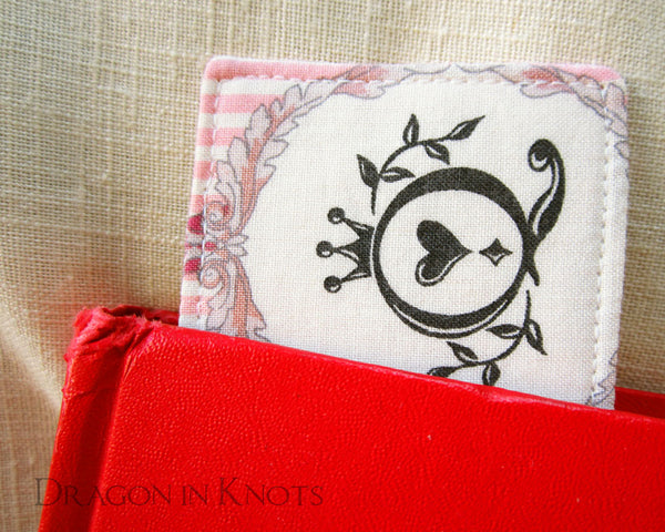 Cheshire Cat Bookmark - Dragon in Knots - Fabric Bookmarks