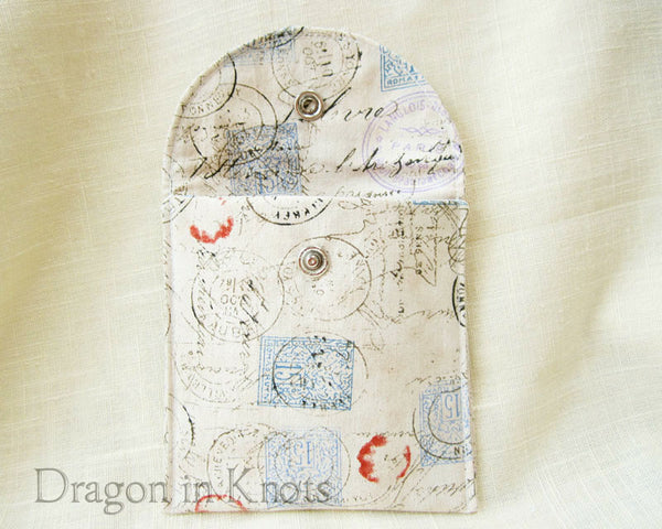 Snail Mail Tea Pouch - Dragon in Knots - Accessory Pouches