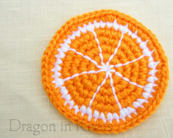 Orange Slice Coaster - Single - Dragon in Knots - Coasters