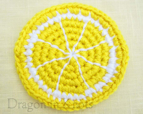 Lemon Slice Coaster - Single - Dragon in Knots - Coasters