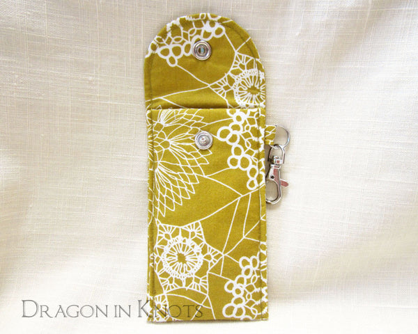 Spider Doily Tall Lip Gloss Case - Dragon in Knots handmade accessory