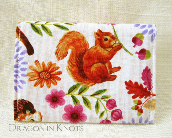 Squirrel Card Wallet - Dragon in Knots handmade accessory