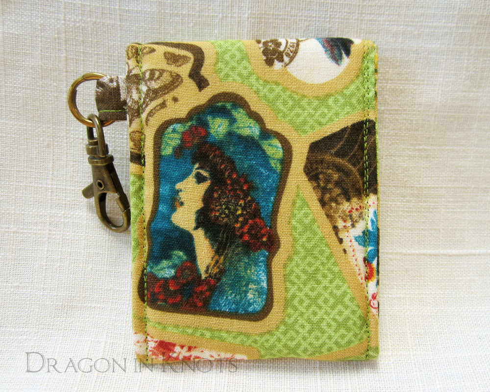 Travelogue Lip Gloss and Card Holder - Dragon in Knots handmade accessory