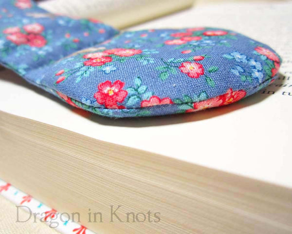 Little Birds Book Holder - Vintage Fabric Book Weight - Dragon in Knots - Book Weights