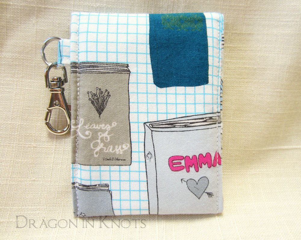 Well-Read - Lip Balm and ID Pouch - Emma, Leaves of Grass, Pollyanna - Dragon in Knots handmade accessory
