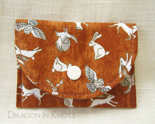 Wild and Wise Card Wallet - Dragon in Knots handmade accessory