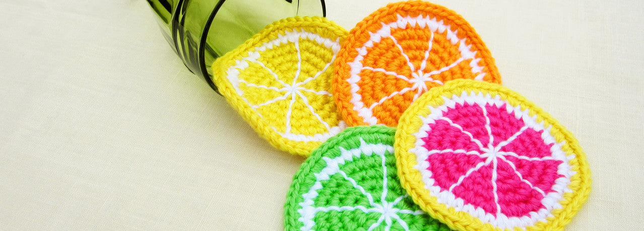 Citrus Fruit Coasters - Orange, Lime, Lemon, Grapefruit