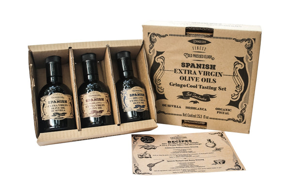 NEW!   Tasting Set of Spanish Extra Virgin Olive Oils from GringoCool