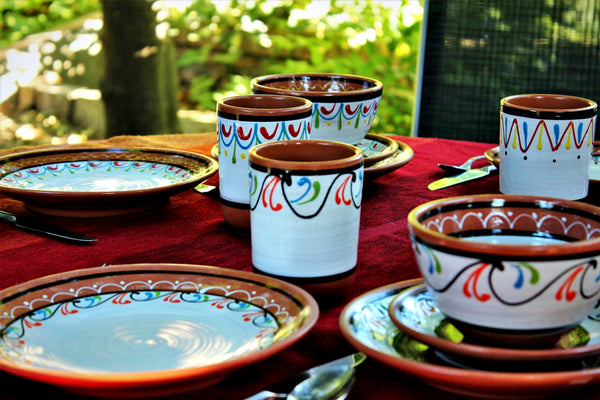 White Terracotta Dishes