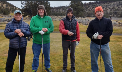 winter golf at the Crooked River Ranch