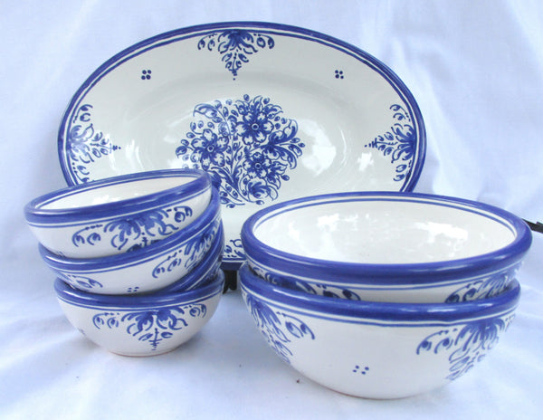 Spanish Talavera Set of 4 Condiment Bowls
