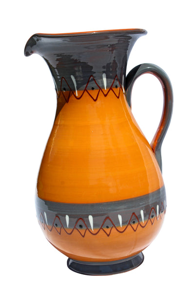 Rawhide Terracotta, 2 Quart Pitcher - Hand Painted From Spain