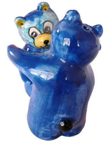 Hand painted salt and pepper shakers - Blue Bears
