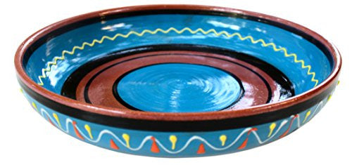 Terracotta serving dish - blue - from Cactus Canyon Ceramics