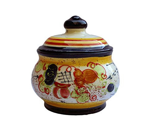 A coat of many colors - Splash! ceramic 1 quart storage jar