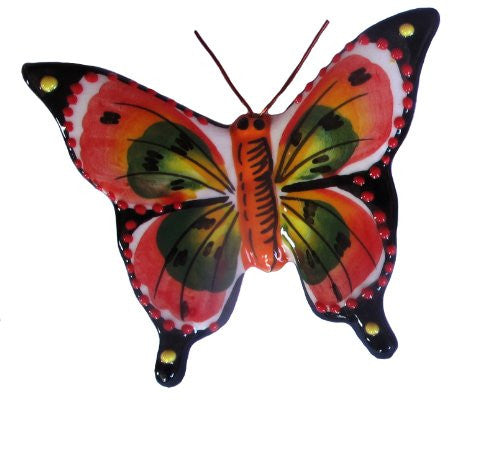 Beautiful ceramic butterfly - hand painted by Spanish Artisans