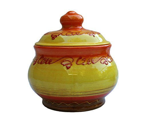 Sol ceramic, 1 quart storage jar - from Cactus Canyon Ceramics