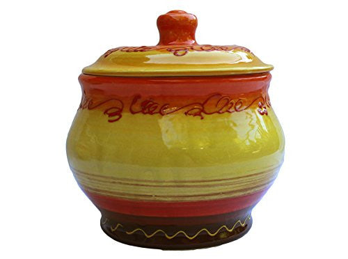 Storage Jar - 1.5 Quarts - Hand Painted in Spain - Sol Design