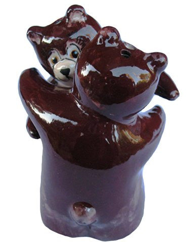 Brown bear salt and pepper shakers