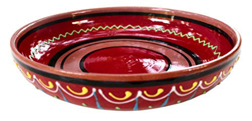 Terracotta red serving dish - hand painted in Spain from Cactus Canyon Ceramics