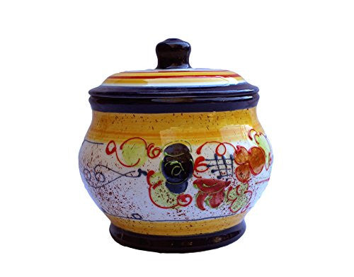 Storage Jar - 1.5 Quarts - Hand Painted in Spain - Splash! Design