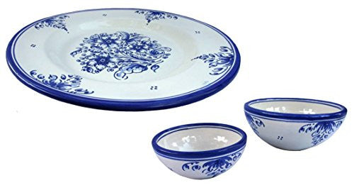 Spanish talavera appetizer set - from Cactus Canyon Ceramics