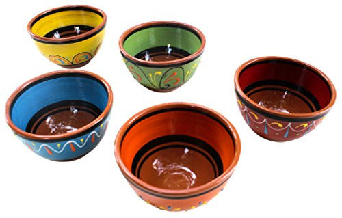 Terracotta breakfast bowls - hand painted in Spain from Cactus Canyon Ceramics