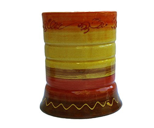 Hand painted utensil jar - Sol design from Cactus Canyon Ceramics
