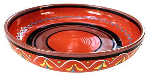 Terracotta Orange, Serving Dish - Hand Painted From Spain