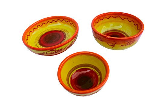 Sol dipping dish set of 3 from Cactus Canyon Ceramics