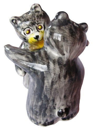 Grey bear salt & pepper shakers - hand painted in Spain