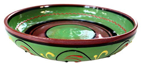 Terracotta hand painted serving dish - Green - from Cactus Canyon Ceramics