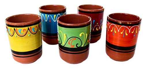 Terracotta drinking cups - hand painted in Spain from Cactus Canyon Ceramics