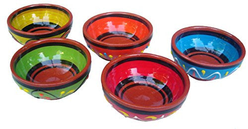 Terracotta mini-bowl set of 5 - from Cactus Canyon Ceramics