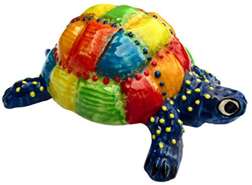 Mr. Patch Turtle - a coat of many colors - hand painted in Spain