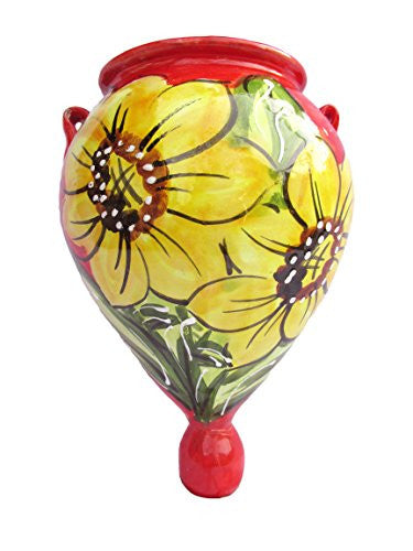 Sunflower Orza - hand painted in Spain