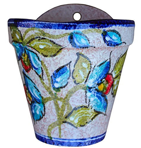 Wall pot hand painted in Spain - Blue Corazon